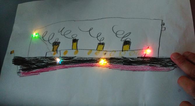 paper circuit art w
